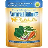 Natural Balance Platefulls Grain Free Cat Food, Turkey, Chicken & Duck Formula In Gravy, 3-Ounce...