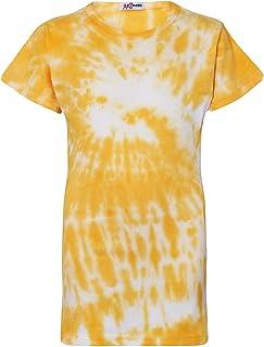 A2Z 4 Kids Kid Girls T Shirts Dyed Yellow Tie Dye Print Trendy Fashion Summer Tank Top Tees