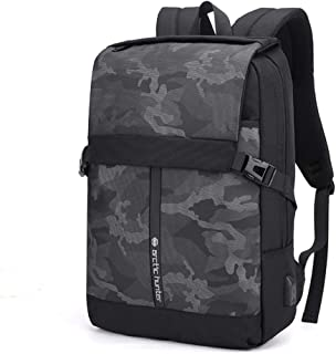 Travel Backpack with USB, Water Resistant Durable College School Backpack with Anti Theft Buckle for Women and Men, Slim B...