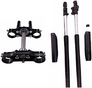 WPHMOTO Complete 45mm/48mm Upside Down Front Fork Shock Absorber and Triple Clamp Handlebar Riser Set for Pit Dirt Bike