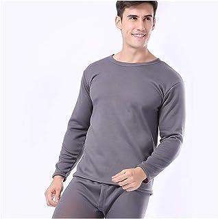 Women Men Thermal Underwear Autumn Winter Thicken Lovers Pajama Keep Warm Clothes Cotton Set Elasticity (Color : Men2, Siz...