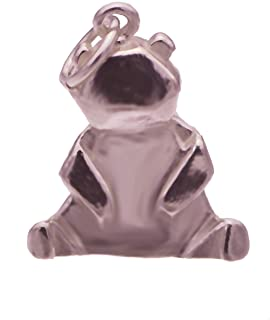 prince of diamonds New Japanese Origami 3D Cute Baby Panda Teddy Bear Charm 18K Rose Gold Plated