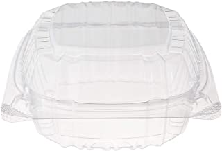 "DART 5"" Hinged Food Sandwich Take-Out Container Cupcake Cookie Favor Cake, 25 Pack, Clear"