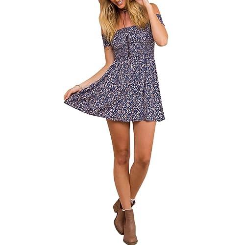 XL Smocked Halter Summer Sun Dress BROWN PINK Size S