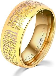 خاتم التعويذة الدينية من الفولاذ المقاوم للصدأ للرجال من أوككي