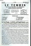 LE TEMOIN DES LOIS NATURELLES ET SPIRITUELLES N°270, AVRIL 1978. NOTES DIETETIQUES, Dr P. CARTON /...
