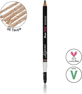 Brow Luxe Definer Pencil by Luscious Cosmetics. Sweat-Proof Eyebrow Pencil. Vegan and Cruelty Free. (Taupe)