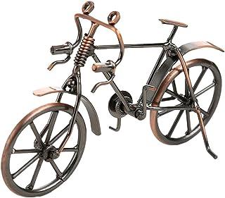 VORCOOL Deko Bicicleta Vintage Hierro de Bicicleta Modelo sammlereisen Escultura Decorativa (Bronce)