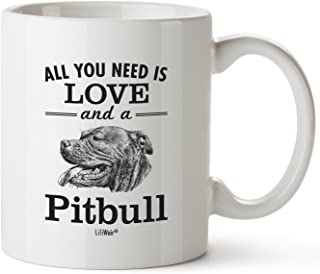Pitbull Mom Gifts Mug For Women Men Dad Decor Lover Decorations Stuff I Love Pitbulls Coffee Merchandise Accessories Talking Art Apparel Funny Birthday Gift Home Supplies Products Dog Coffee Cup Mugs