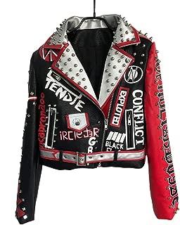 Leather Jacket for Women Short Punk Style