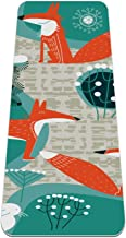 Yogamat - schattige cartoon vos met konijn - Extra dikke antislip oefening & fitness mat voor alle soorten yoga, pilates &...
