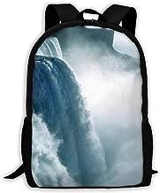 Klnsha7 Niagara Waterfall Canada Laptop Backpack,Travel Computer Bag for Women & Men,Anti Theft Water Resistant College School Bookbag,Slim Business Backpack.