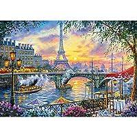 フルスクエアドリル5DDIYダイヤモンド絵画パリタワー風景刺繡モザイククロスステッチラインストーン装飾