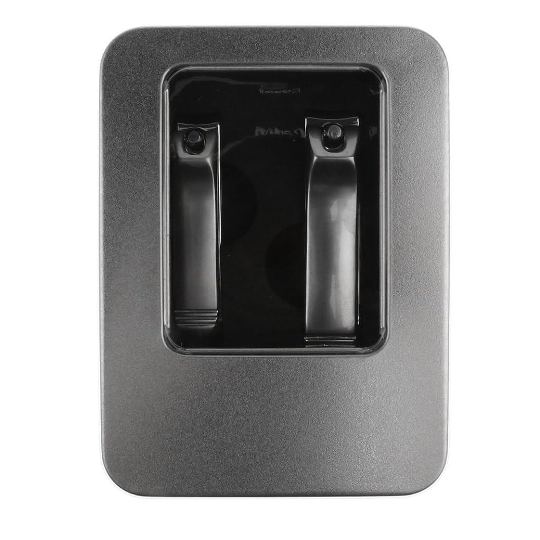 マーティンルーサーキングジュニア不条理不承認ケース付き ネイルカッター はさみ 2本 ステンレス 高品質 爪切り カッター マニキュアツール
