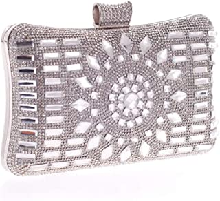 Fine Bag/Women Clutches Crystal Evening Bag Clutch Purse Bags Special Occasion Evening Handbags Banquet Bag (Color : Silver, Size : One Size)