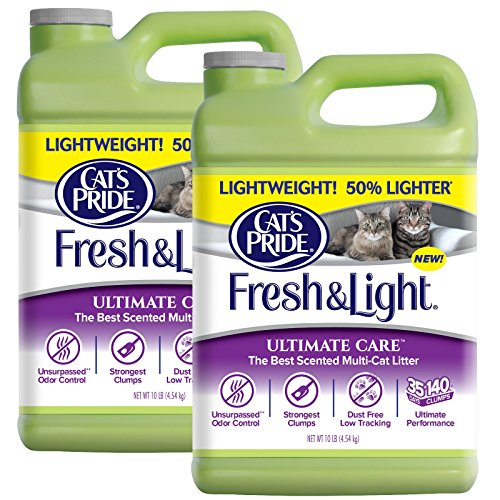 Cat's Pride Fresh & Light Ultimate Care Scented Multi-Cat Litter, 10 Pound, Pack of 2