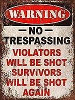 立ち入り禁止の警告 金属板ブリキ看板警告サイン注意サイン表示パネル情報サイン金属安全サイン