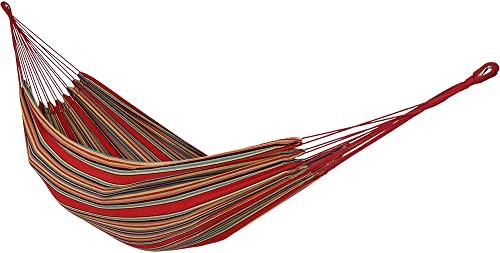popular Sunnydaze Brazilian Double Hammock with Carrying Pouch, 2 sale Person Portable Bed - for Outdoor popular Patio, Yard, and Porch (Sunset) outlet sale