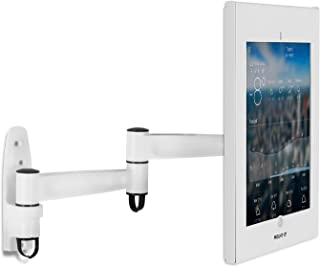 Mount-It! Secure Swing Arm iPad Pro Wall Mount   Swivel Stand for iPad Pro 12.9 Kiosk   Articulating Arm for iPad Pro 12.9 1st/2nd Gen (MI-3774W-XL)