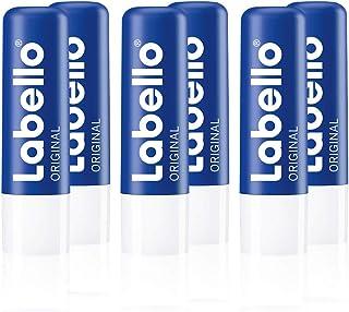 Labello Original - Matita per la cura delle labbra in confezione da 6 (6 x 4,8 g), per labbra naturalmente belle, balsamo ...