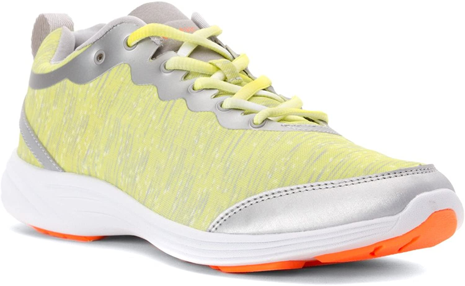 Vionic with Orthaheel Technology Women's FYN Active Sneaker,Grey Yellow,US 8 M