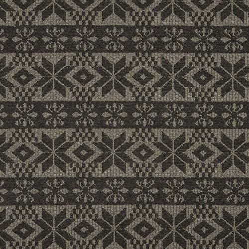 Decoración inglesa para muebles, tela ignífuga Lana Highland, color marrón, tela de tapicería para coser, lana virgen, absorción de sonido