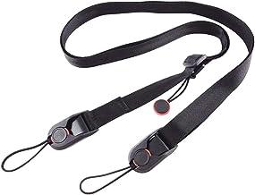 Xikui Pro Camera Strap Quick Release, Camera Neck Belt, Leash Shoulder Strap Clips Sling,3 ABS Buckle,Black