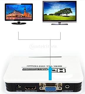 KESOTO Adaptador HDMI para VGA com Suporte para áudio E Vídeo HD 1080p para PC