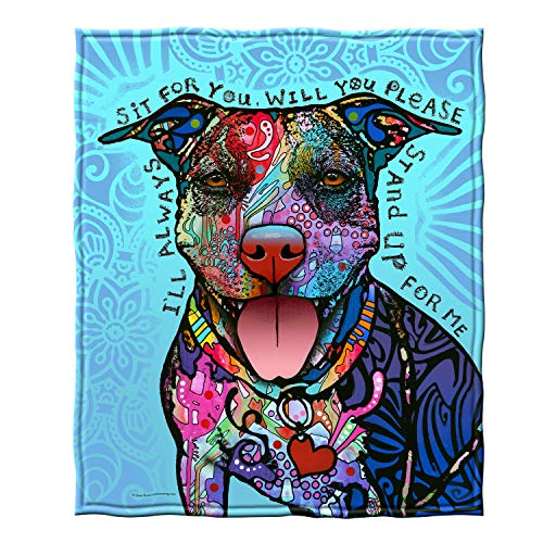 Dawhud Direct Fleece Throw Blanket by Dean Russo (Stand Up for Me Pit Bull)
