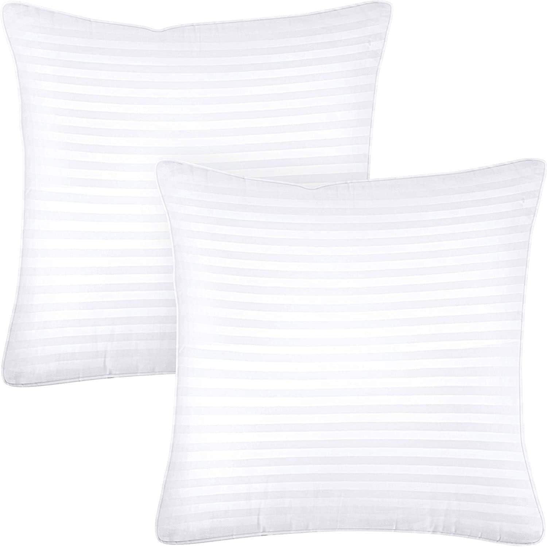 Utopia Bedding Premium Pillow (2-Pack) - Almohadas de Cama de Felpa Almohadas de Mezcla de algodón para Dormir (Blanco, 80 x 80 cm)
