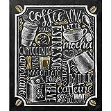 Kit de pintura de diamantes DIY 5D Tienda de bebidas de leche Tablero de café Noticias Promoción Punto de cruz Decoración del hogar Bordado de diamantes Arte de mosaico 15.7 × 19.7 Inches