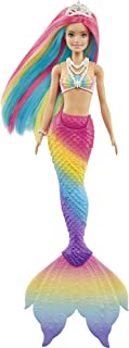 Barbie Dreamtopia Rainbow Magic Mermaid Doll with Rainbow Hair and Water-Activated Color Change Feature, Gift for 3 to 7 ...