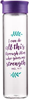 I Can Do All This - Philippians 4:13 Glass Water Bottle