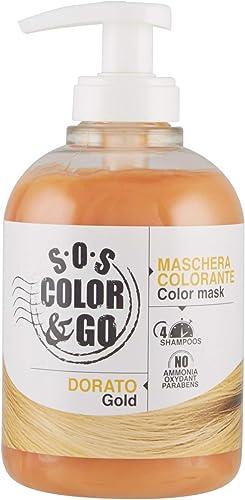 S.O.S COLOR & GO Maschera Colorante Riflesssante e ravvivante Dorato 300 ml