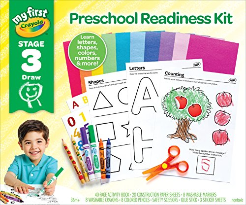 Crayola Preschool Workbook & Toddler Art Supplies, Letters & Numbers, Preschool Learning Toys, 80+ Supplies
