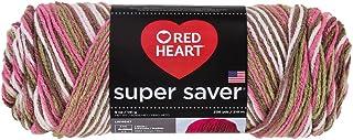 Red Heart Super Saver Economy Yarn, Pink Camo