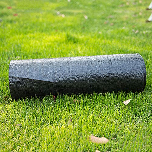 Okngr Tela de barrera de malas hierbas, de 0,8 x 5 m, tela de paisaje, resistente para el suelo, cubierta de malas hierbas, cubierta duradera para entrada de jardín, césped, tela para exteriores