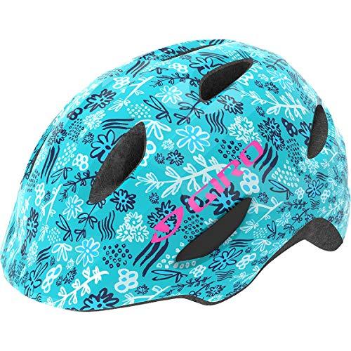 Giro Scamp Kinder Fahrrad Helm floral türkis blau 2019: Größe: S (49-53cm)