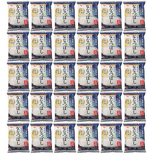 【精米】アイリスオーヤマ 北海道産 ななつぼし 無洗米 生鮮米 新鮮個包装パック 2合パック(300g) 令和元年産 ×30個