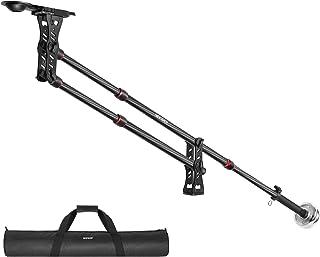 Neewer 200 Zentimeter Kohlefaser Ausleger Kamerakran mit 1/4 und 3/8 Zoll Schnellschuhplatte, Gegengewicht für DSLR Videokameras, Belastbar bis zu 8 Kilogramm