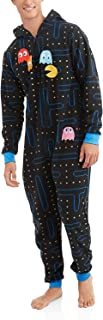 Pacman Gamer Adult Novelty Hooded Onesie Pajama with Detachable Pieces