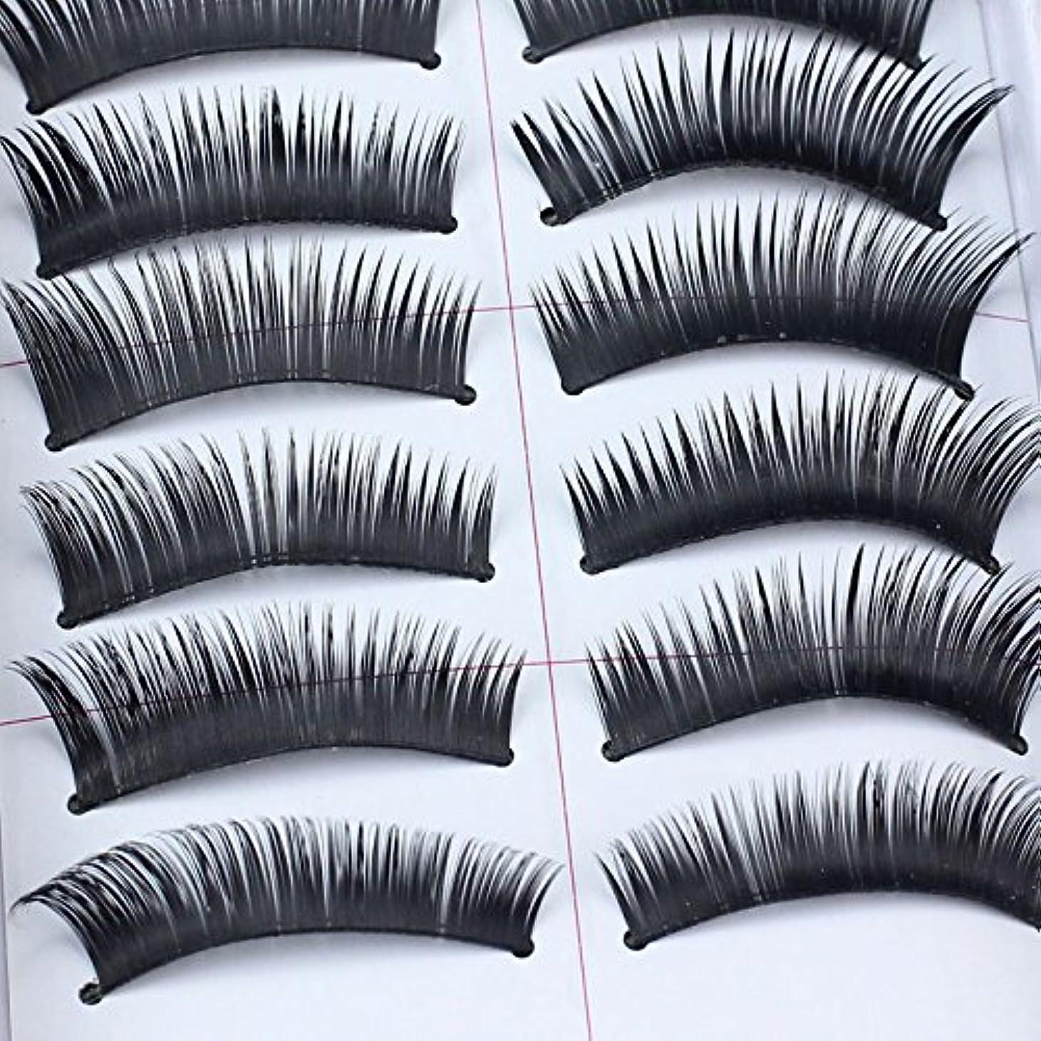 クライマックス役に立つ準備するFortanつけまつげ アイラッシュ 超濃密 高級 上まつげ セクシー 繊細 手作業 やわらかい つけまつげのり 自然 つけまつ毛 コスメ 高級繊維 激安 3D 大きい目 20pcs(10ペア)入り
