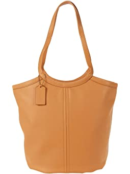COACH Soft Leather Tote,B4/Natural