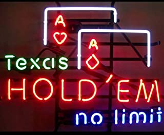 iecool Texas Hold'em no Limit Neon Sign 17