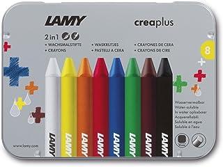 德国凌美lamy儿童环保蜡笔2合1铁盒装8色 (国?#25163;?#37038;费包含了国?#35270;?#36153;和进口关税)