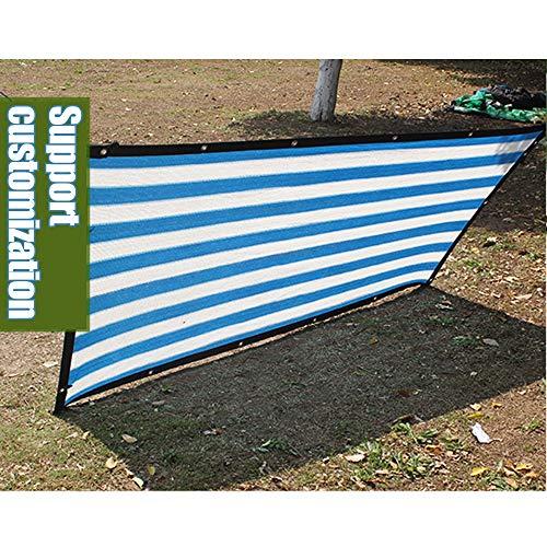 YUDEYU Red De Sombra 12 Puntos Cifrado Protección Solar/Aislamiento Tasa De Sombreado 85% Enfriamiento del Techo Balcón Patio (Color : Blue White Strips, Size : 3mx3m)