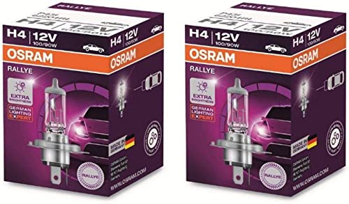 Osram Rallye H4 Halogen 62204 Exterior Headlight Bulb (12V, 100/90W, 2 Bulbs)