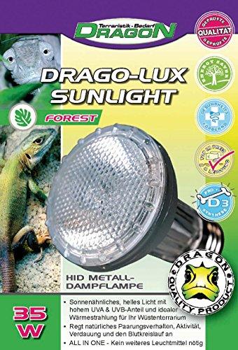 DRAGO-LUX Sunlight FOREST 35w - Metalldampflampe für E27 Fassung mit UVA und UVB Strahlung