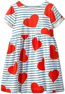 HILEELANG Little Girl Trends Spring Summer Casual Cotton Applique Tunic Dress Shirt
