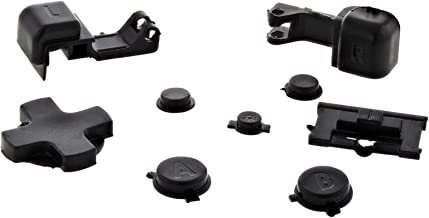 Black Plastic Full Button Set for GBA SP A B Select Start Power On Off L R Buttons D Pad